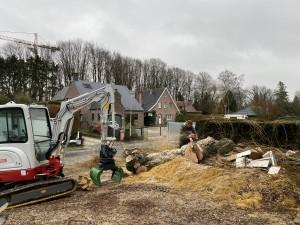 Abattage dangereux fin de chantier