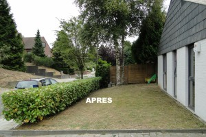 Renovation de jardins - avant-apres - LBO SERVICES